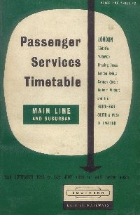 British Railways Timetable - Summer 1959
