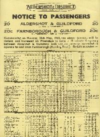 May 1960 Time Table