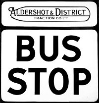 Aldershot and District Bus Stop Signs