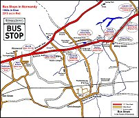 Map of Bus Stops