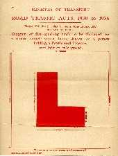 'L' Plate, Regulations  (click to see an enlargement)