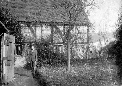 Chapel Farm Cottage with Charb (Charles) Hellard in 1927