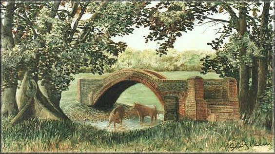 The Chinese Bridge (Painting by Sally Helm)