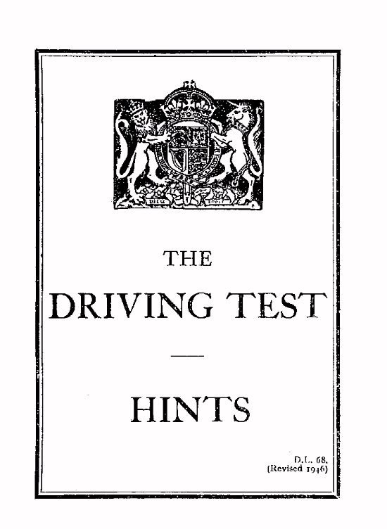 Driving Test Hints - Cover Page (Click to open)