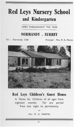 Advertisement from Red Leys