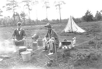 Normandy Scouts Camping, about 1932