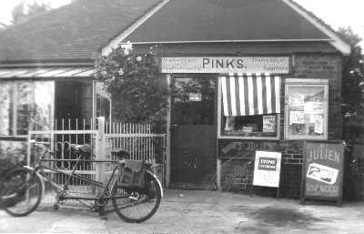 Newsagent at Flexford, 1955