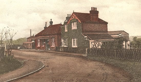 Wanborough Station c1913