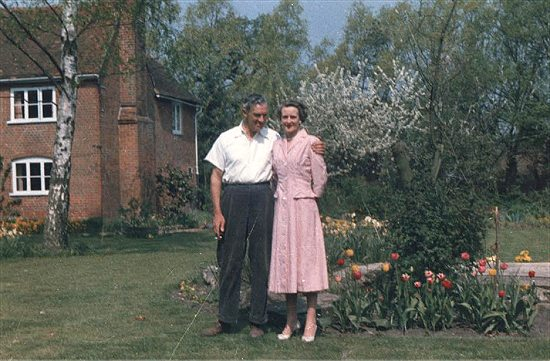 Captain and Mrs Whatley in the garden of Tatters