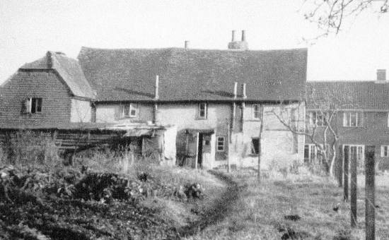 Oldhouse Farm (Tickners), Bailes Lane c1957 -  Rear View