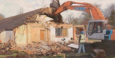 Old hall being demolished