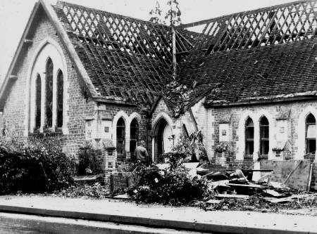 Wesleyan Methodist Chapel - being demolished