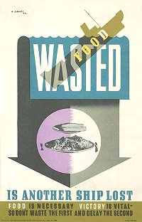 Second World War Poster - Food Wasted
